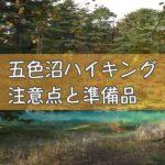 五色沼の外観
