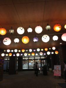 かぼちゃの絵が書いてある提灯