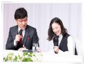 蒼井優と山里亮太の結婚会見の写真